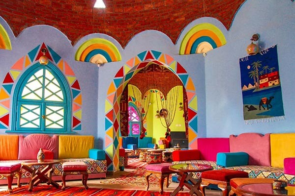ألوان بيوت النوبة