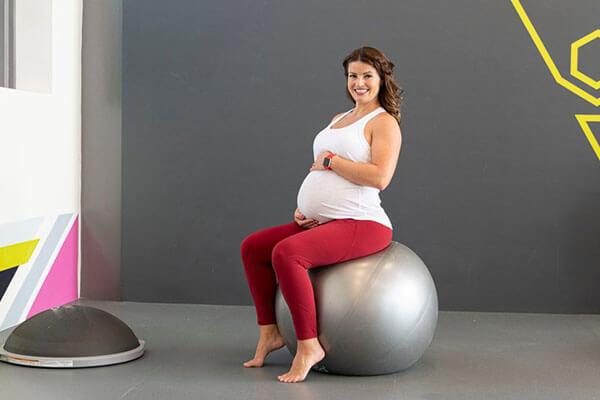 تمارين الكرة للحامل